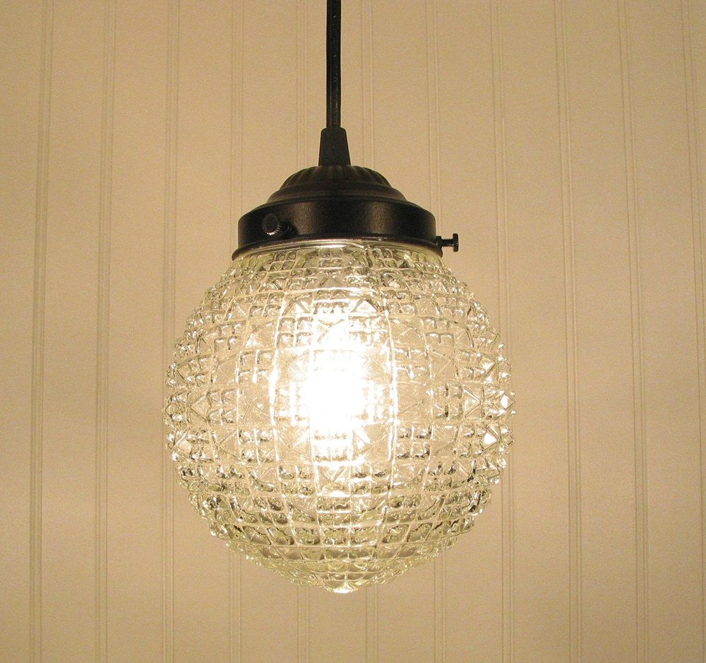 Diamond square clear pendant light via etsy for the home
