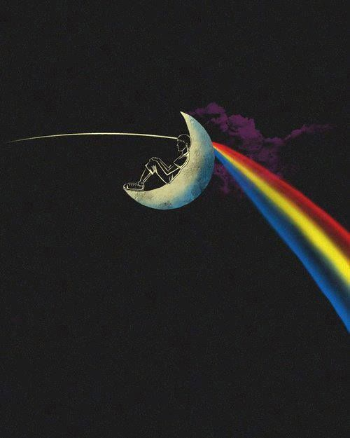 Pink Floyd: There is no dark side of the moon, really. As matter of fact it's all dark ...