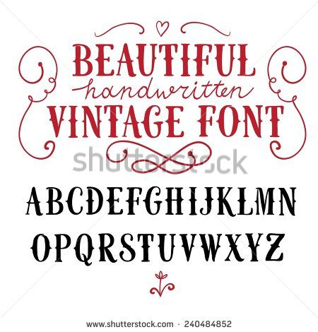 Vintage Stock Photos How To Draw Hands Abc Vintage Lettering
