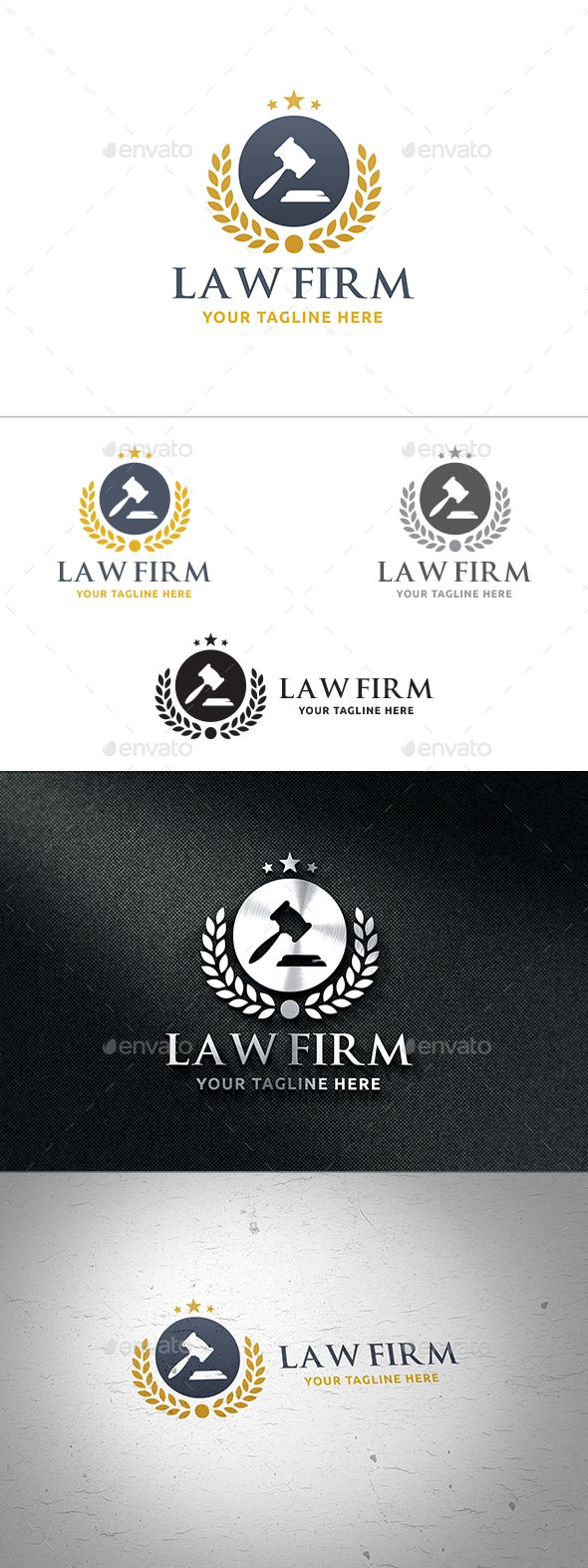 Law Firm Logo Design Template Vector logotype Download