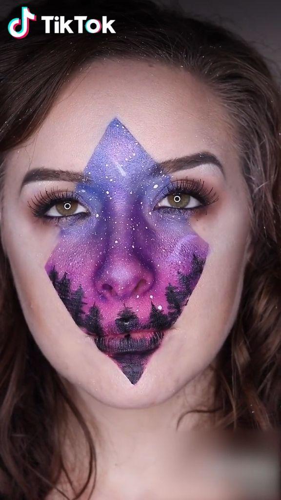 Amazing Makeup Of Northern Sky Super Cool Download Tiktok Now To Find More Trending Makeu Makeup Tutorial Video Perfect Makeup Tutorial Makeup Hacks Videos