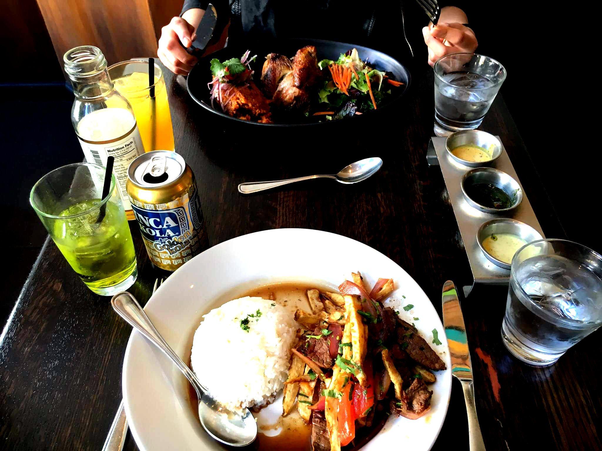 Peruvian Food In Sf Inkacola Lomo Saltado And Pollo A La Brasa