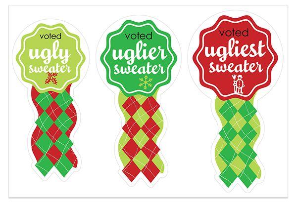 Ugly christmas sweater printable. Free awards chris