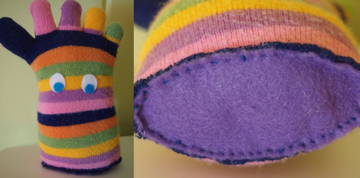 DIY sock monster from