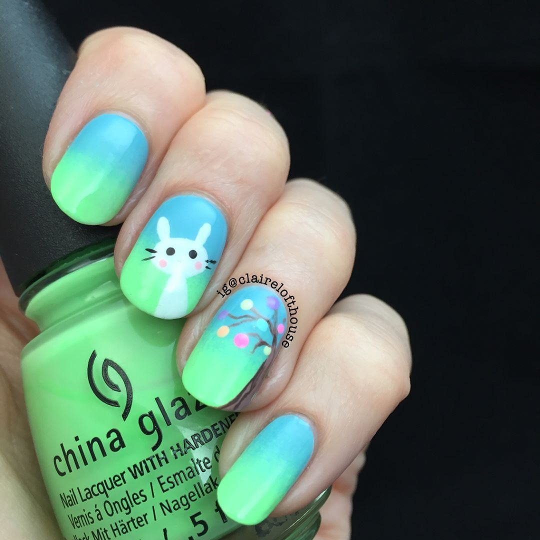 Hop to It: Nail Art for Easter - - NAILS Magazine | Easter Nail Art ...