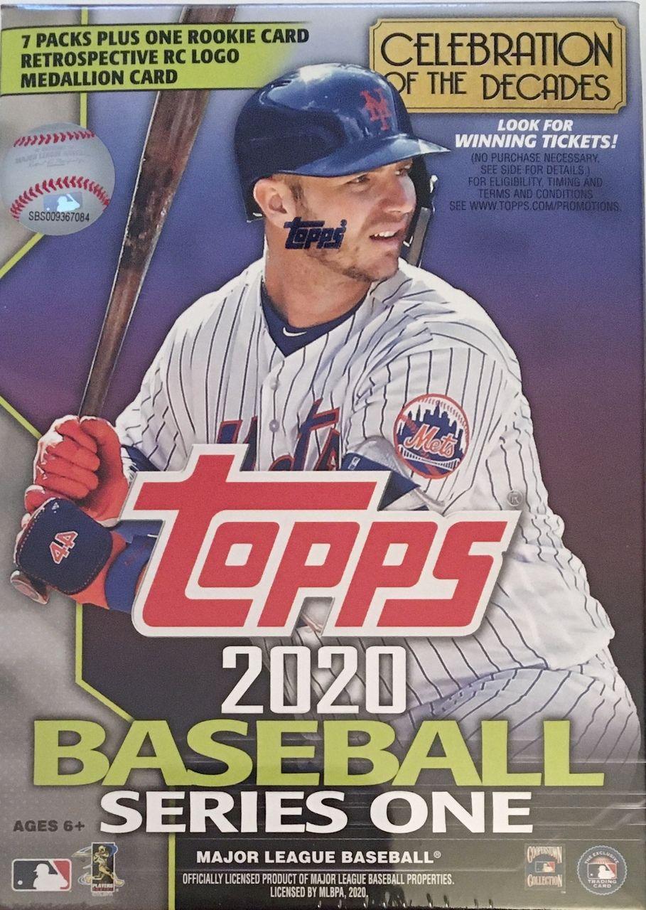 2020 Topps Series 1 Baseball Blaster Box 7pks, Retro RC