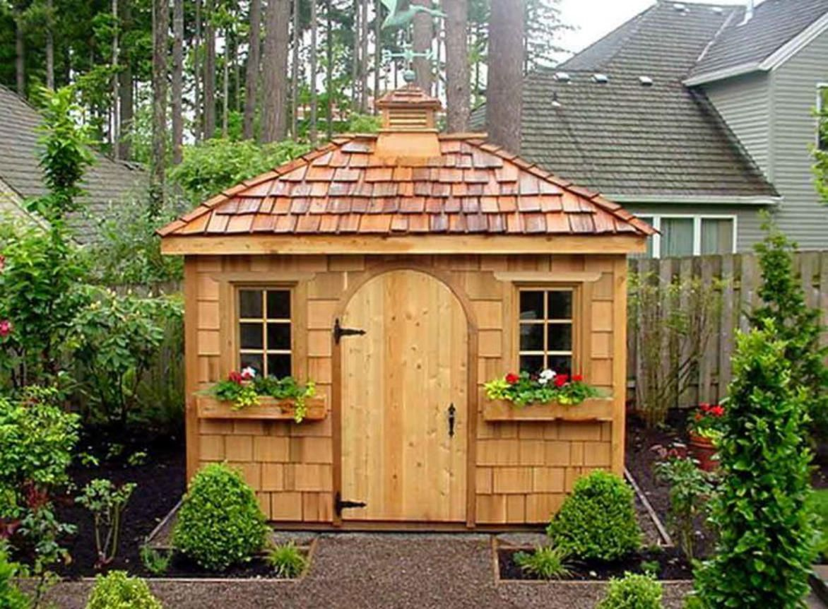 cedar sonoma shed with cedar shingles in lake oswego oregon id number 1246