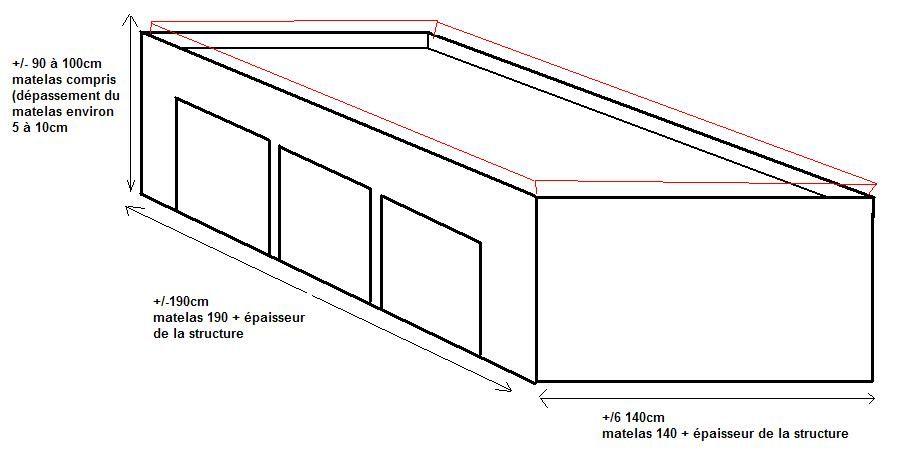 plan lit estrade bedrooms pinterest plans lits et maisons. Black Bedroom Furniture Sets. Home Design Ideas