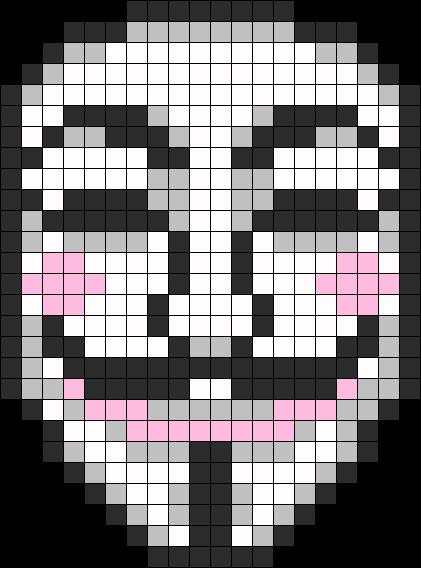 Guy Fawkes Anonymous Mask Perler Perler Bead Pattern Bead Sprite