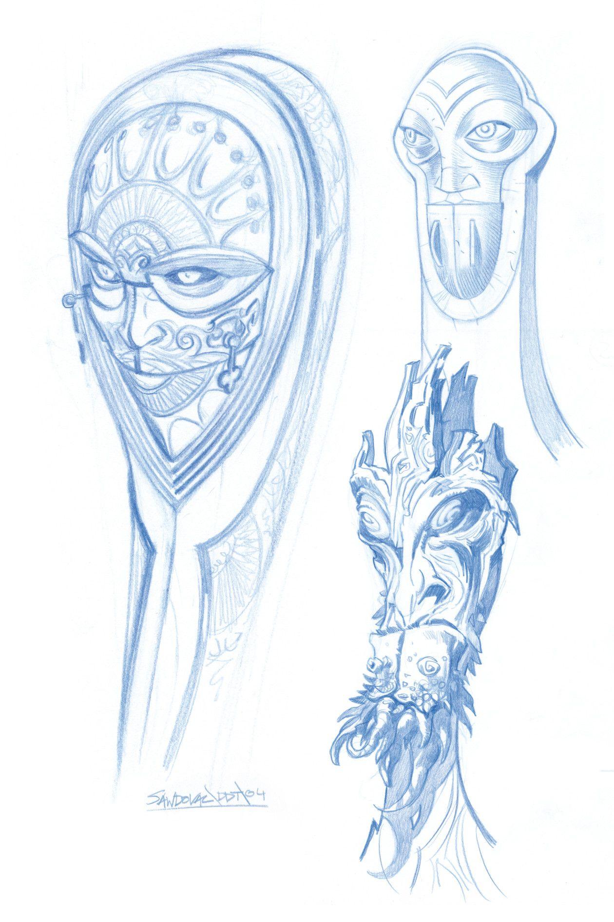 Artstation The Pale Man Character Design Pan 180 S