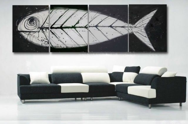 Retro-hand-made-big-oil-paintings-4-piece-Fish-bones-Fossil-canvas-art-font-b-white.jpg 640×422 pixels
