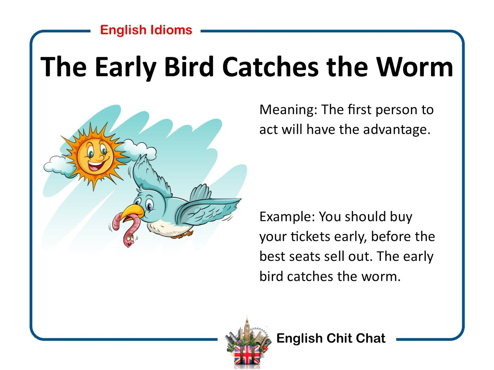 Common English Idioms Video And Pictures English Idioms Common