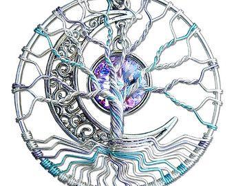 Medicine Wheel Tree of Life Pendant Wire by MadamVonTrinkets