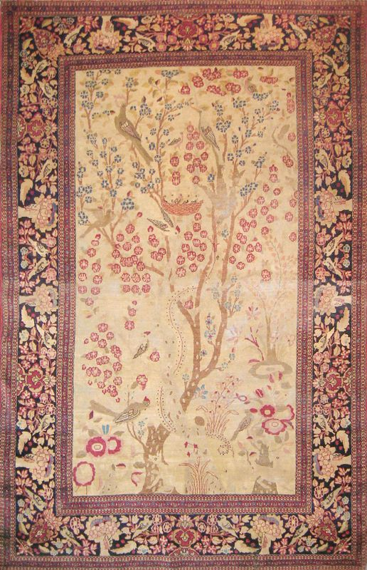 Wool Rug made in Iran Isfahan Design Oriental antique Handmade 4X6 Fine Quality…