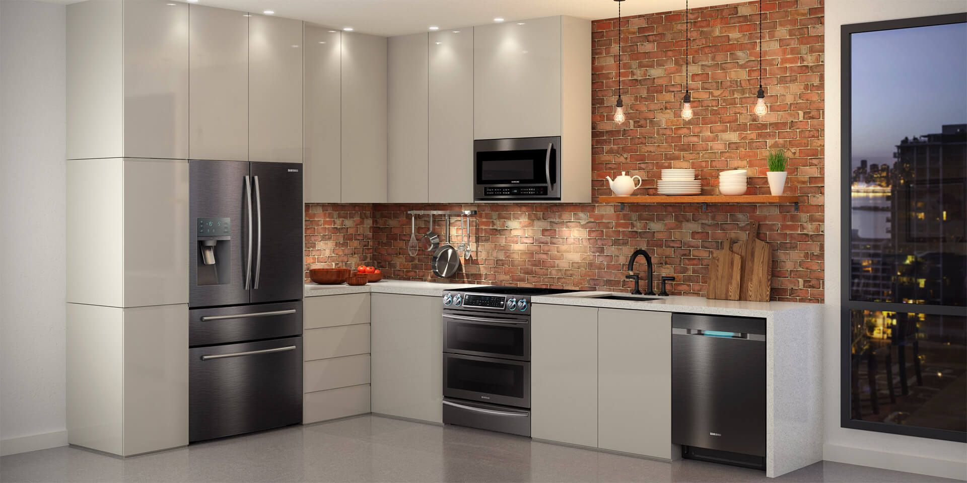 Cuisine Inox Noir Samsung Chef Collection Small Kitchen Organization Kitchen Remodel Kitchen
