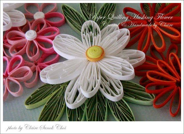 Claire's paper craft: White husking flower- tutorial