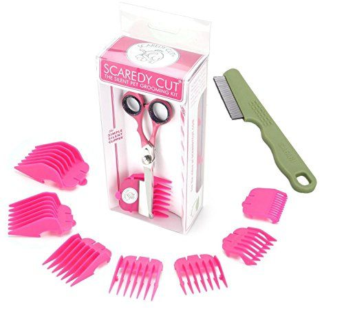 Scaredy Cut Silent Pet Clipper, PINK with Safari Flea Comb >>> Find out more about the great product at the image link.
