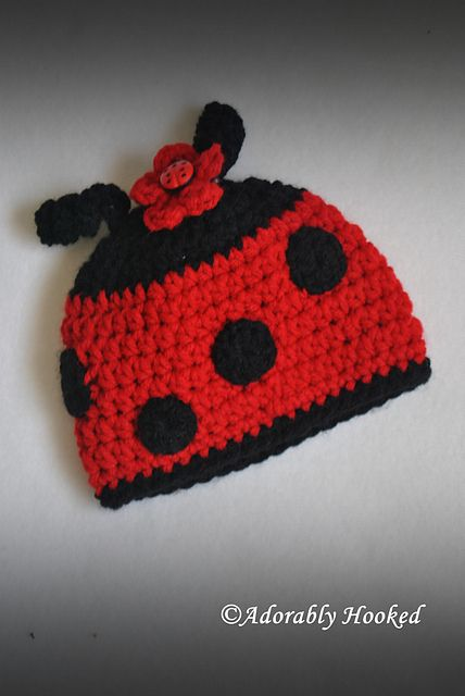 Lady bug, lady bug, fly away home! <3 | Crochet Baby-Child Hats ...