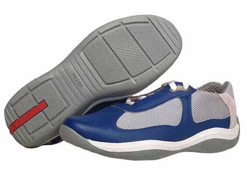 PradaMesh & Leather Velcro Sneakers