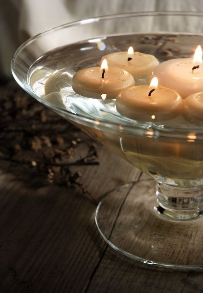Glass Pedestal Floating Flower Candle Bowl 11 Each 3 For 10