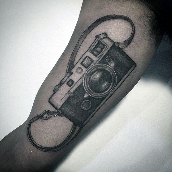 Tattoo Designs Camera: Bicep Camera With Support Strap Tattoo Designs On