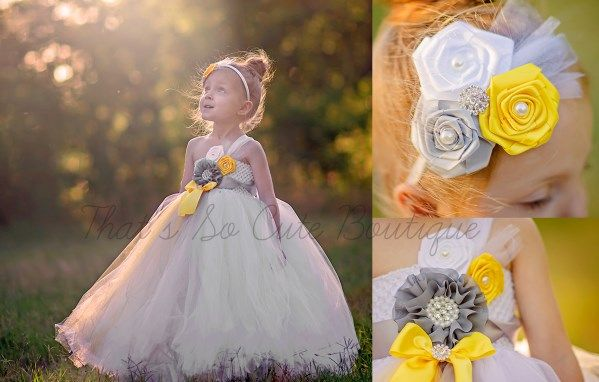 White yellow and silver flower girl tutu dress white grey gray white yellow and silver flower girl tutu dress white grey gray mightylinksfo