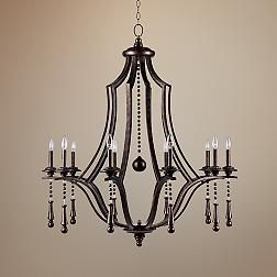 Crystorama Parson English Bronze 40-Inch-W Chandelier