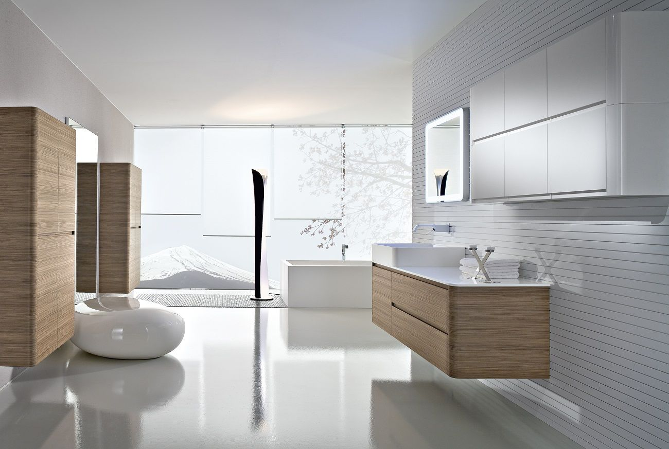 nice Contemporary Bathroom Designs With Large Interiors ...
