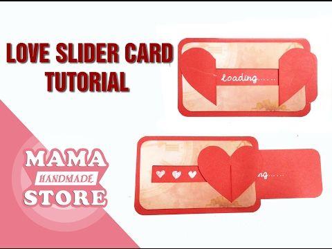 Diy Love Slider Card Tutorial Tutorial For Scrapbook Tutorial For Explosion Box Youtube Slider Cards Card Tutorial Good Tutorials