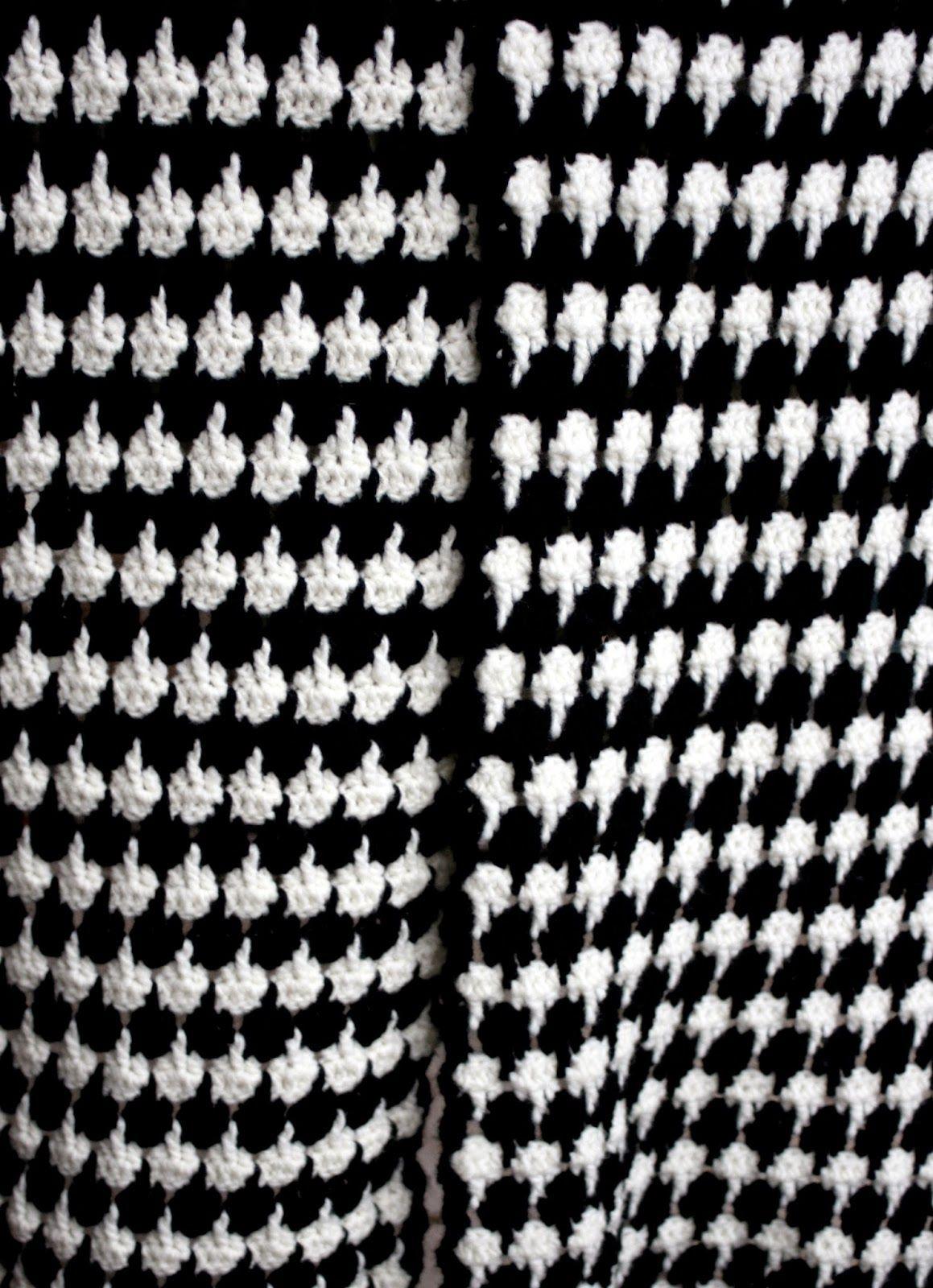 Haken Bij Saar En Mien Pied De Poule Stijl Sjaal Patroon Crochet