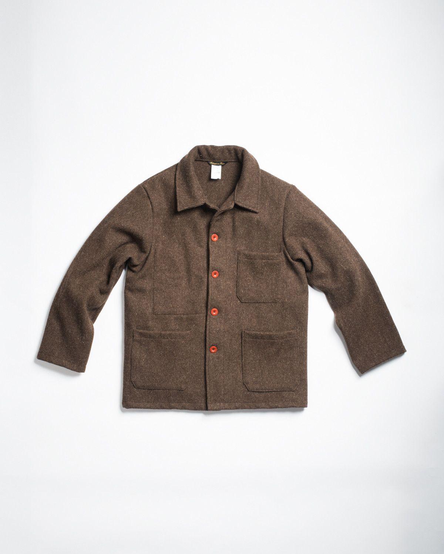 Le Laboureur Wool Work Jacket Brown | Work jackets, Men stuff and ...
