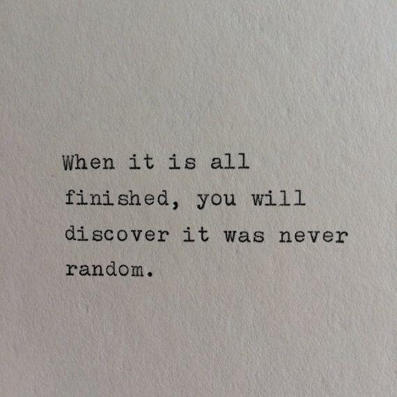 It was never random. #rulestoliveby