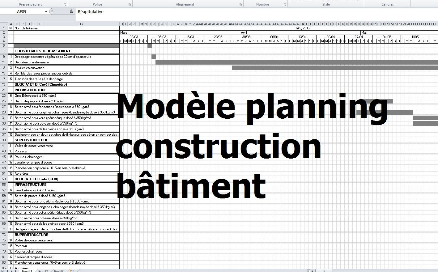 Budget Construction Maison Excel Plans Deconception Exemple De - Logiciel Construction Batiment Gratuit