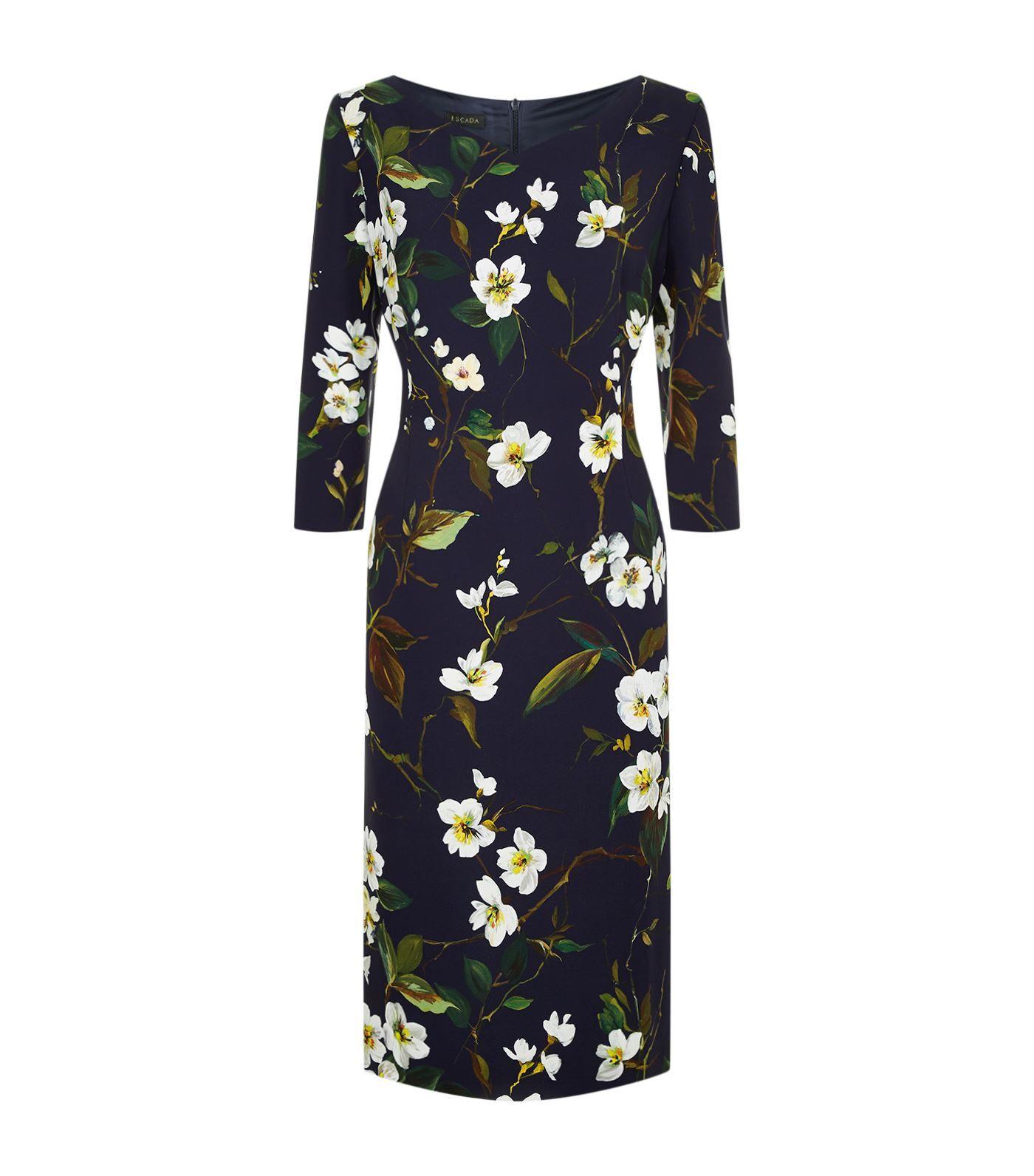 2b7fc44f0d55 Escada Dupela Floral Midi Dress