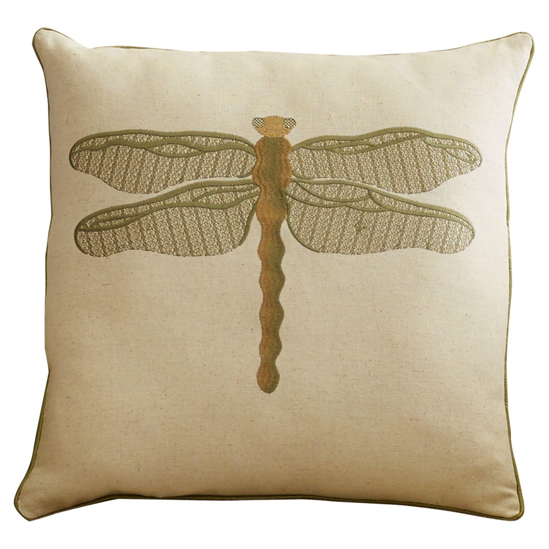 Lida Dragonfly Throw Pillow Throw Pillows Burlap Throw Pillows