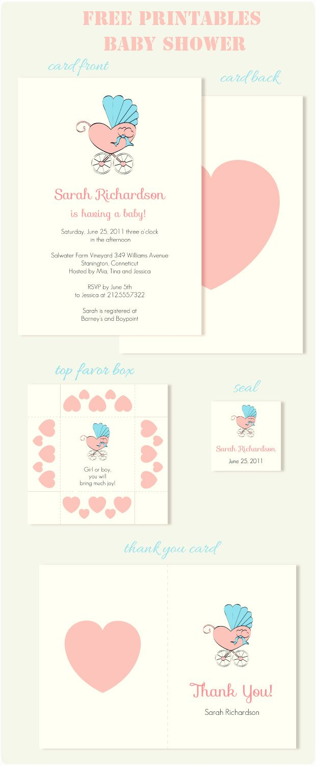 FREE Baby Shower Printables #invites Change colors and text and ...