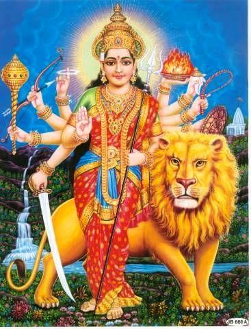 Durga Kali Hindu Goddess Represents Shakti Divine