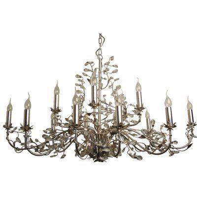 LightLiving Evita 15 Light Candle Chandelier