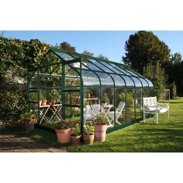 Serre Diana 9900 En Verre Horticole 9 869 M Serre Jardin Serre En Verre Maison Verte