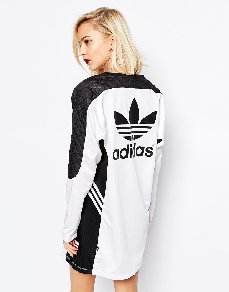cb81d57683e6 Image 2 of adidas Originals Rita Ora Long Sleeve Panel Dress   Style ...
