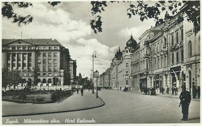 Zagreb 1926 Mihanoviceva Hotel Esplanade Zagreb Street View Eastern Europe
