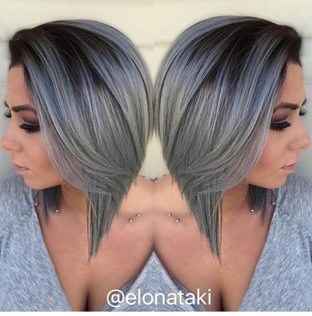 Great Colour Grey Hair Color Silver Ombre Hair Ombre Hair Color