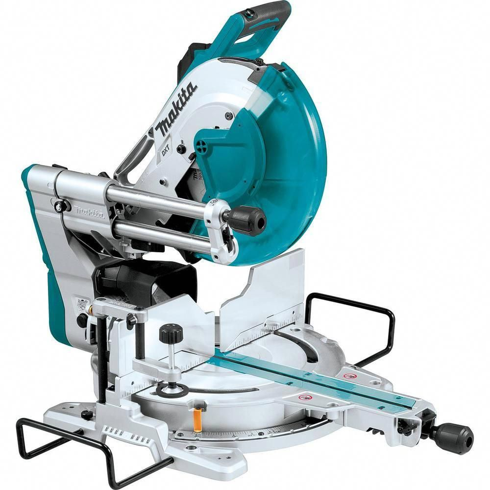 Makita 15 Amp 12 In Dual Bevel Sliding Compound Miter Saw With Laser Woodsaw Compound Mitre Saw Sliding Compound Miter Saw Miter Saw