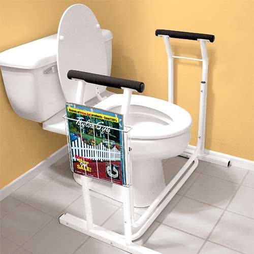 Elderly Home Safety: Toilet Safety Rail Takes The Worry Out Of Sitting And