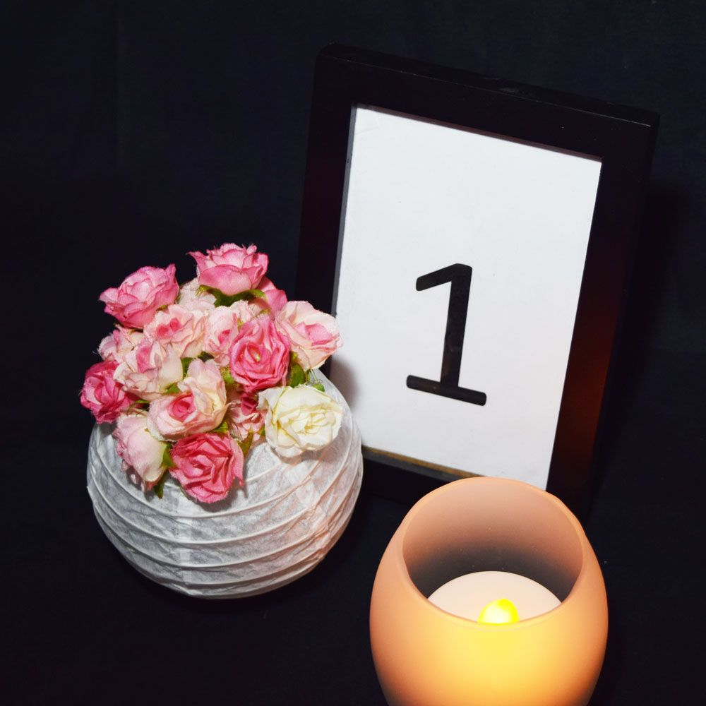 Wedding decorations simple  Oval Tea Light Flameless LED Candle in Frosted Glass Votive w Blow