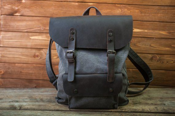 a173ddc8b26 Men and women backpack,Leather Roll top backpack,Roll top backpack ...