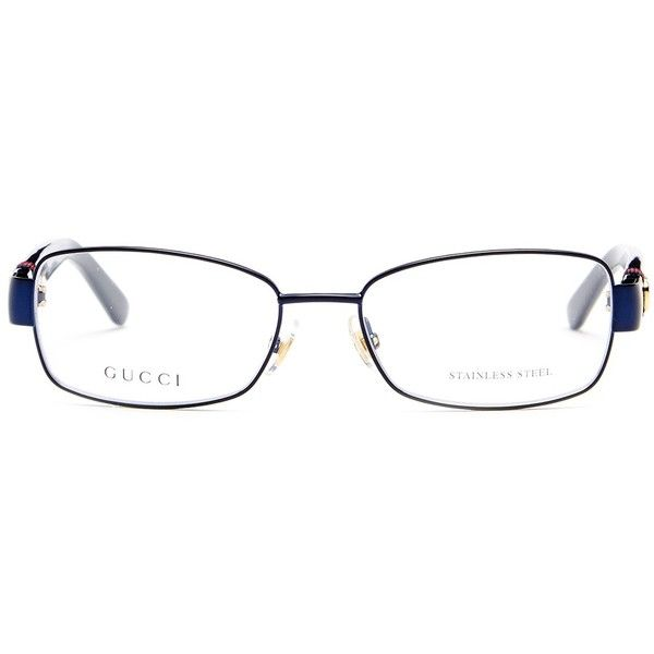 gucci womens rectangle wire rim optical frames 120 liked on polyvore featuring accessories - Wire Glasses Frames