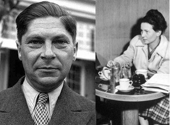 """Segundo o historiador Tony Judt, Koestler tanto insistiu que conseguiu uma chance com Simone de Beauvoir (segundo a fonte, não passou de """"uma noite de sexo ruim"""")."""