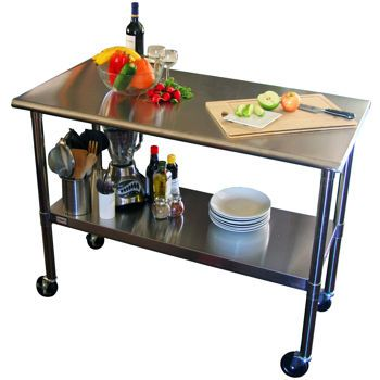 Costco Trinity Ecostorage Nsf Stainless Steel Prep Table With Wheels