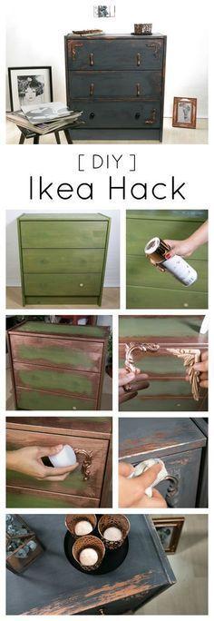 Used Look Möbel selber machen - kreativ und individuell Möbel - ikea küche anleitung